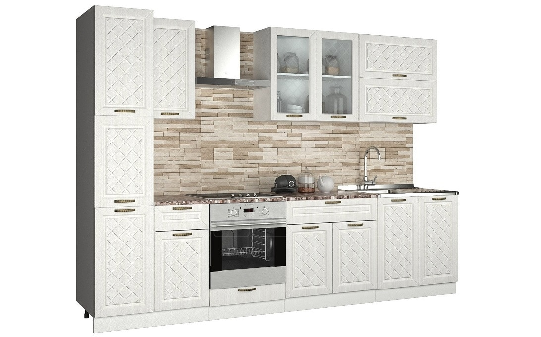 Кухонный гарнитур с пеналом Агава 3,0м вариант 2 фото 1 | интернет-магазин Складно