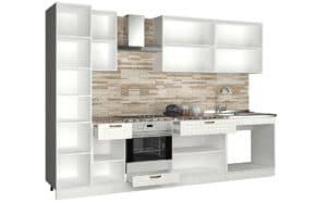 Кухонный гарнитур с пеналом Агава 3,0м вариант 2 фото | интернет-магазин Складно