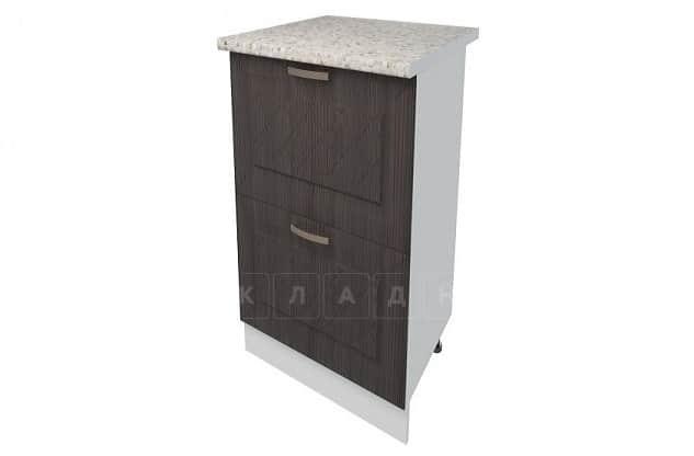 Кухонный шкаф напольный Агава ШН2Я40 с 2 ящиками фото 3 | интернет-магазин Складно