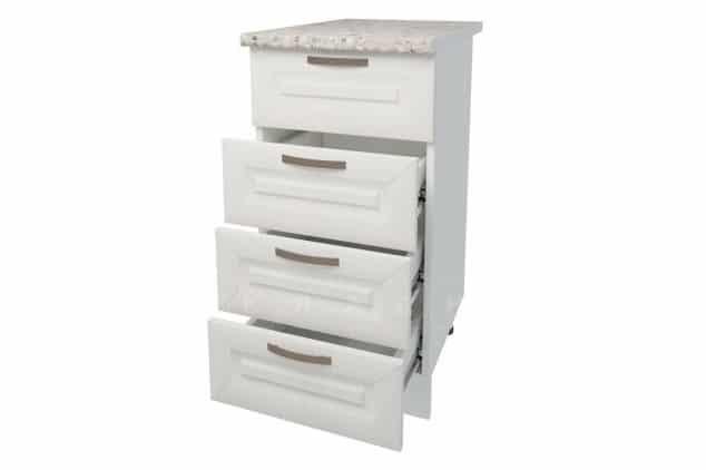 Кухонный шкаф напольный Агава ШНЯ40 с 4 ящиками фото 2 | интернет-магазин Складно