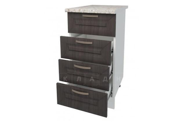 Кухонный шкаф напольный Агава ШНЯ40 с 4 ящиками фото 4 | интернет-магазин Складно
