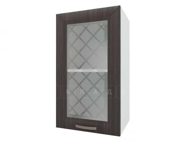 Кухонный навесной шкаф со стеклом Агава ШВС40 фото 3 | интернет-магазин Складно