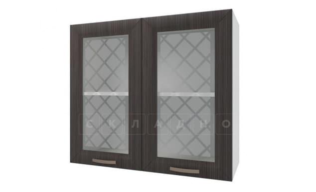 Кухонный навесной шкаф со стеклом Агава ШВС80 фото 3 | интернет-магазин Складно