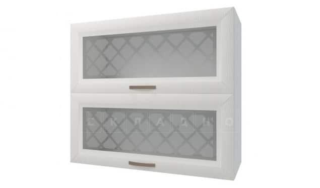 Кухонный навесной шкаф горизонтальный со стеклом Агава ШВГС80 фото 1 | интернет-магазин Складно