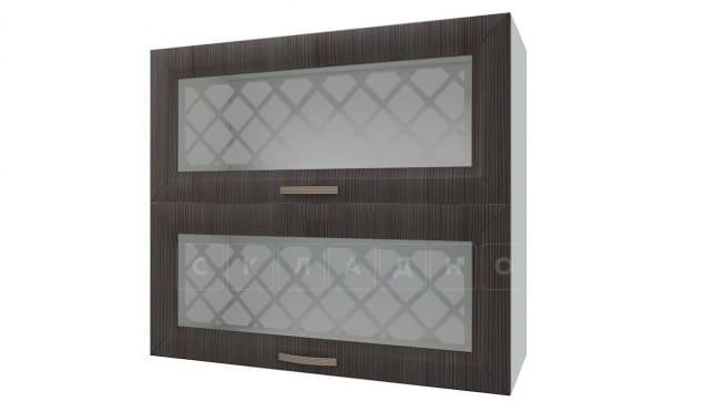 Кухонный навесной шкаф горизонтальный со стеклом Агава ШВГС80 фото 3 | интернет-магазин Складно