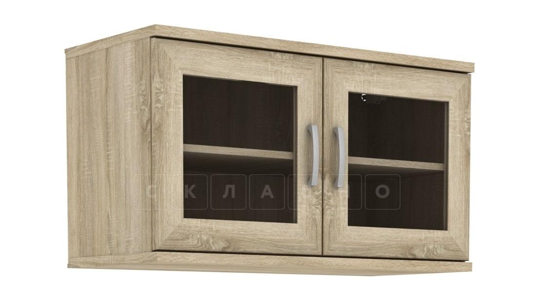 Антресоль 702-02 две дверцы со стеклом фото 5 | интернет-магазин Складно