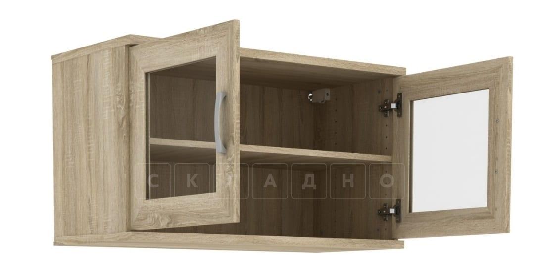 Антресоль 702-02 две дверцы со стеклом фото 6 | интернет-магазин Складно