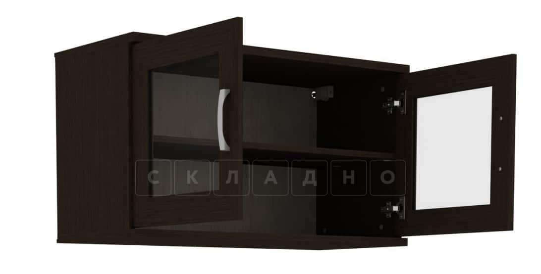 Антресоль 702-02 две дверцы со стеклом фото 2 | интернет-магазин Складно