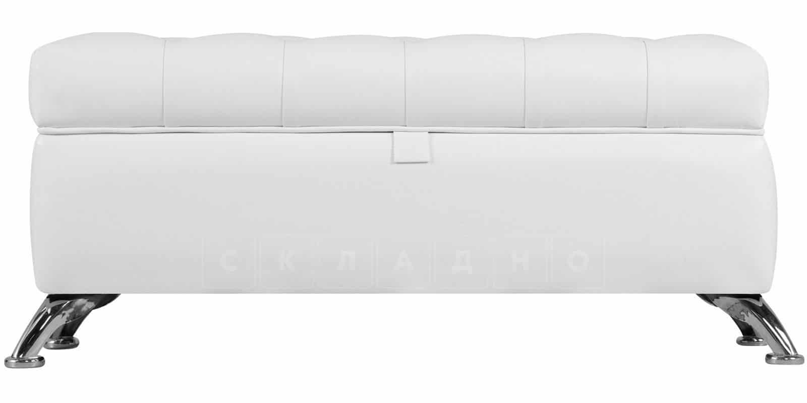 Банкетка Малибу белая фото 2 | интернет-магазин Складно
