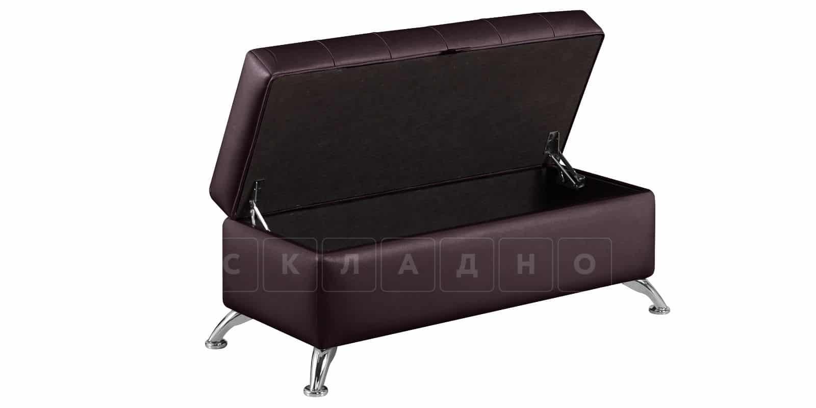 Банкетка Малибу шоколад фото 4 | интернет-магазин Складно
