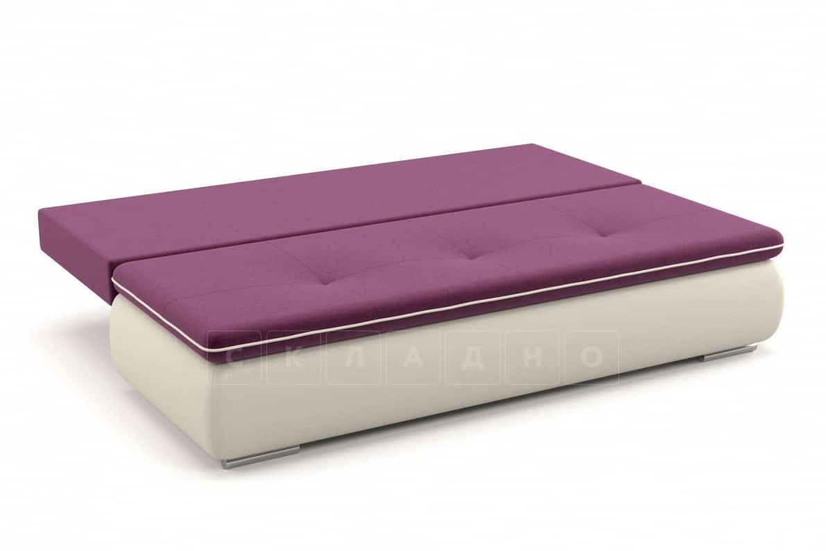 Диван еврокнижка Палмерстон пурпурно-белый фото 4 | интернет-магазин Складно