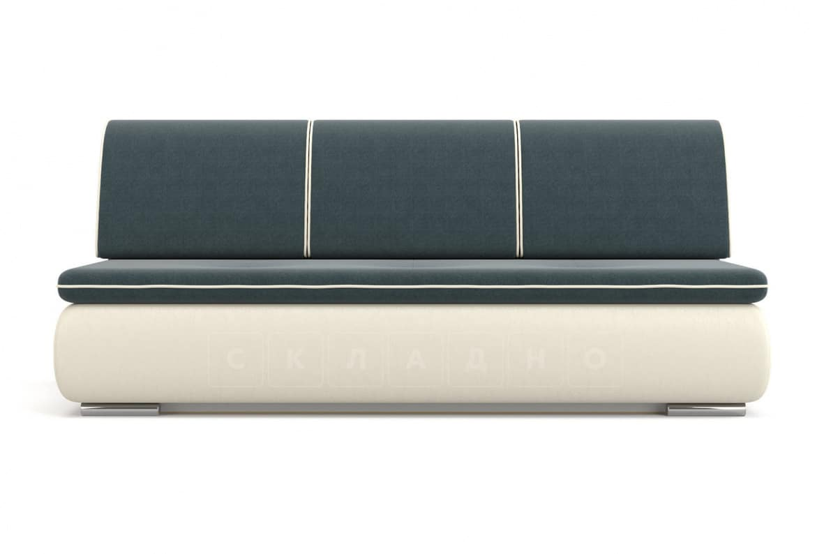Диван еврокнижка Палмерстон бело-серый фото 2 | интернет-магазин Складно