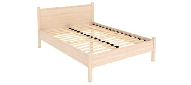 Двухместная кровать 614 с ортопедическим основанием 140 см фото 1 | интернет-магазин Складно