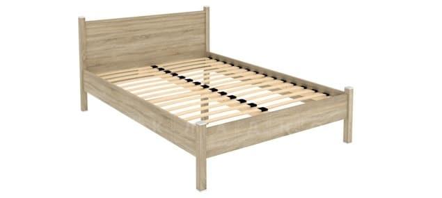 Двухместная кровать 614 с ортопедическим основанием 140 см фото 5 | интернет-магазин Складно