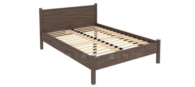 Двухместная кровать 614 с ортопедическим основанием 140 см фото 7 | интернет-магазин Складно