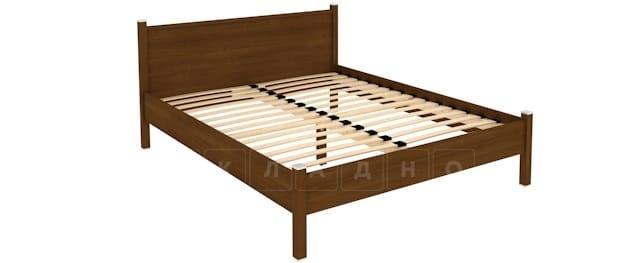 Двухместная кровать 615 с ортопедическим основанием 160 см фото 2 | интернет-магазин Складно