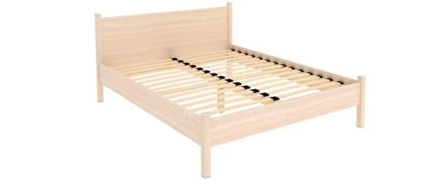 Двухместная кровать 615 с ортопедическим основанием 160 см фото 4 | интернет-магазин Складно