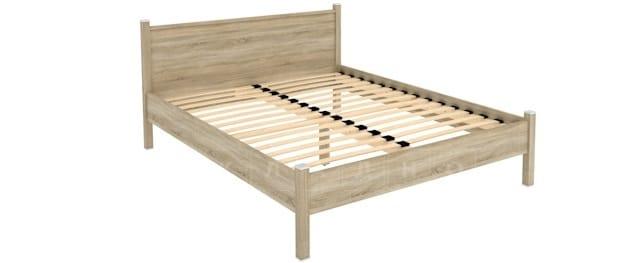 Двухместная кровать 615 с ортопедическим основанием 160 см фото 1 | интернет-магазин Складно