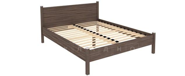 Двухместная кровать 615 с ортопедическим основанием 160 см фото 6 | интернет-магазин Складно