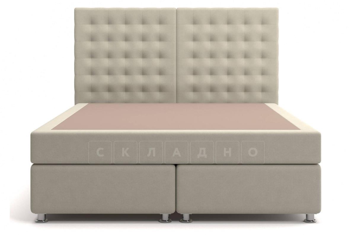 Кровать Парадиз бежевого цвета единый матрас блок Боннель фото 2 | интернет-магазин Складно