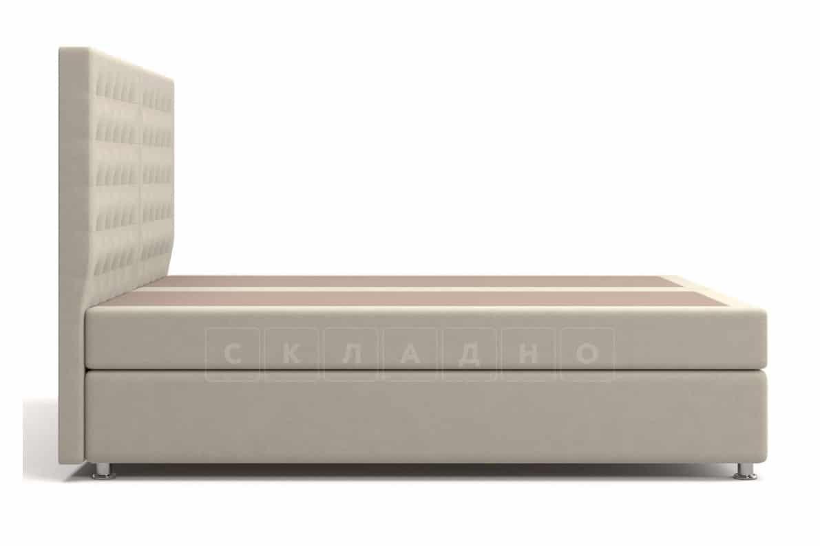Кровать Парадиз бежевого цвета два раздельных матраса блок независимых пружин фото 4 | интернет-магазин Складно