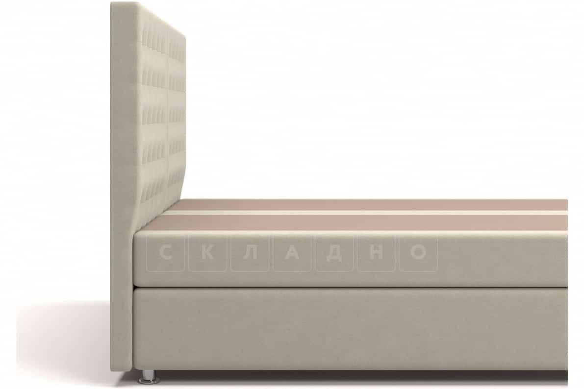 Кровать Парадиз бежевого цвета два раздельных матраса блок независимых пружин фото 5 | интернет-магазин Складно