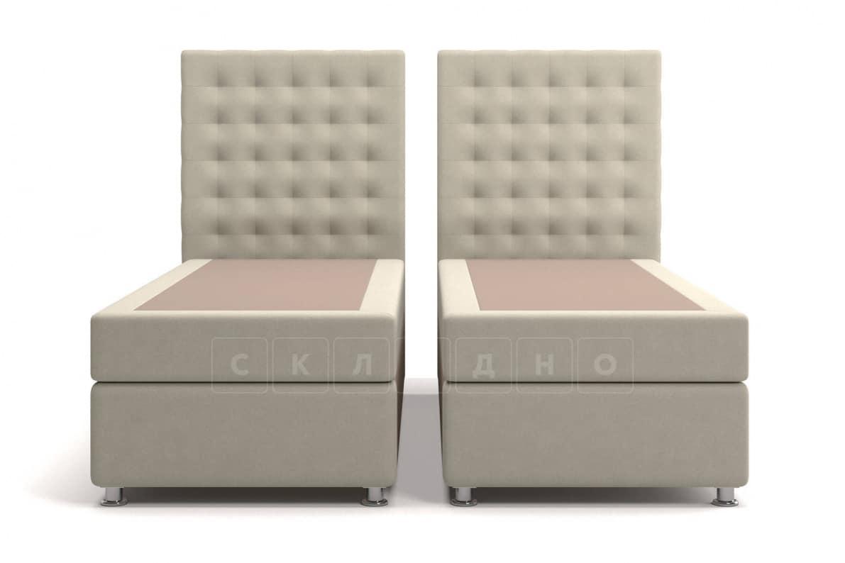 Кровать Парадиз бежевого цвета два раздельных матраса блок независимых пружин фото 1 | интернет-магазин Складно