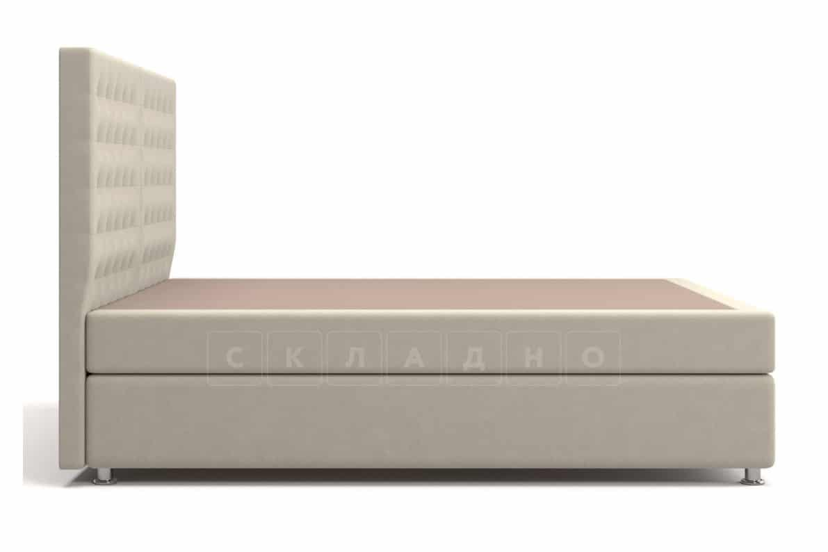 Кровать Парадиз бежевого цвета единый матрас блок Боннель фото 3 | интернет-магазин Складно