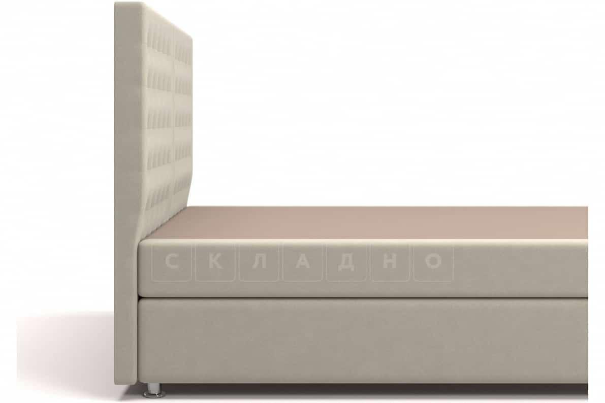 Кровать Парадиз бежевого цвета единый матрас блок Боннель фото 4 | интернет-магазин Складно