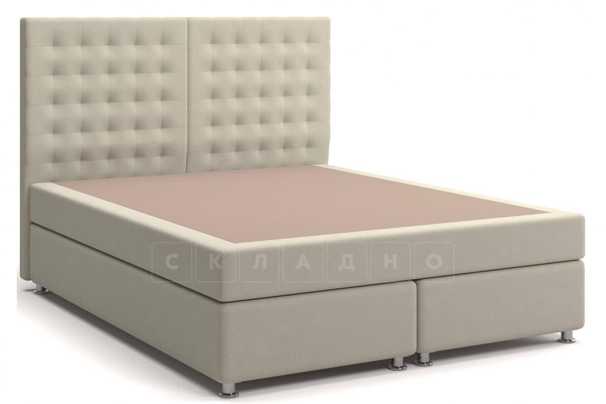 Кровать Парадиз бежевого цвета единый матрас блок Боннель фото 1 | интернет-магазин Складно