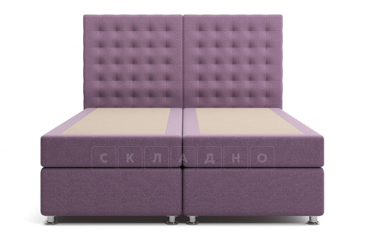 Кровать Парадиз сиреневого цвета два раздельных матраса пружинный блок Боннель фото 2 | интернет-магазин Складно