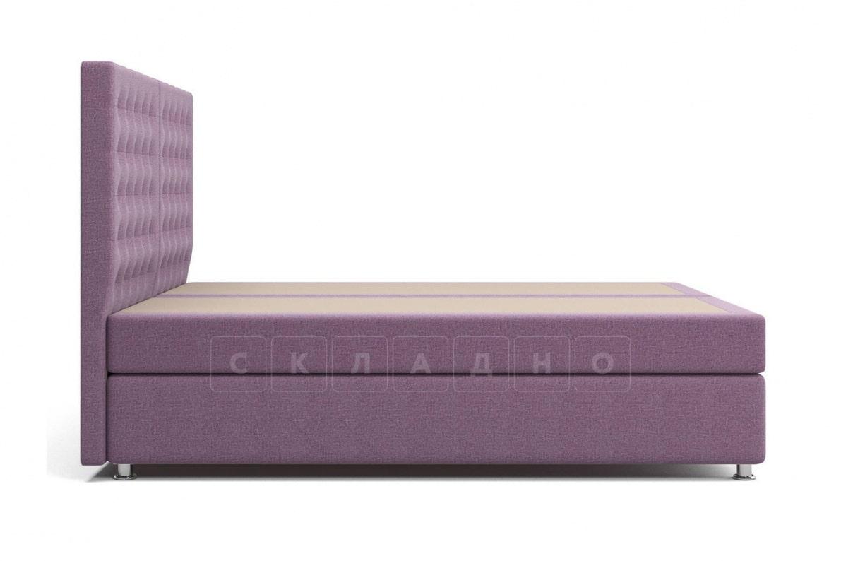 Кровать Парадиз сиреневого цвета два раздельных матраса пружинный блок Боннель фото 4 | интернет-магазин Складно