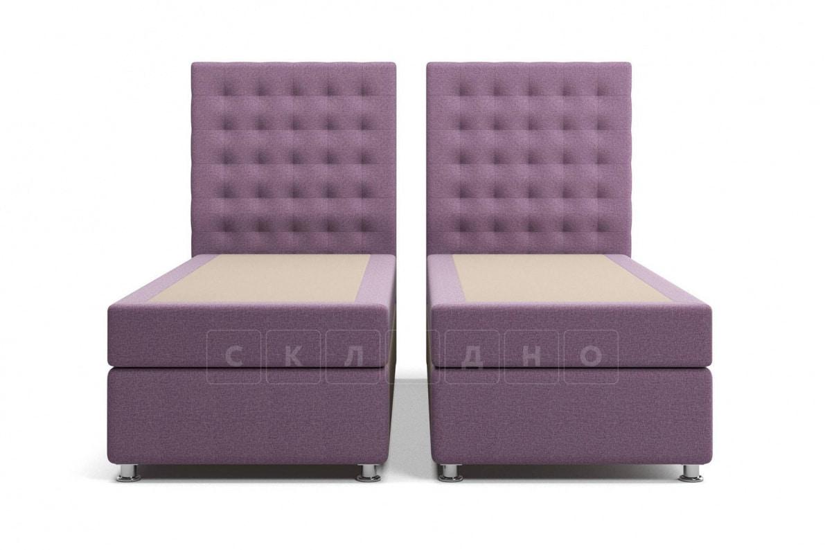 Кровать Парадиз сиреневого цвета два раздельных матраса пружинный блок Боннель фото 1 | интернет-магазин Складно