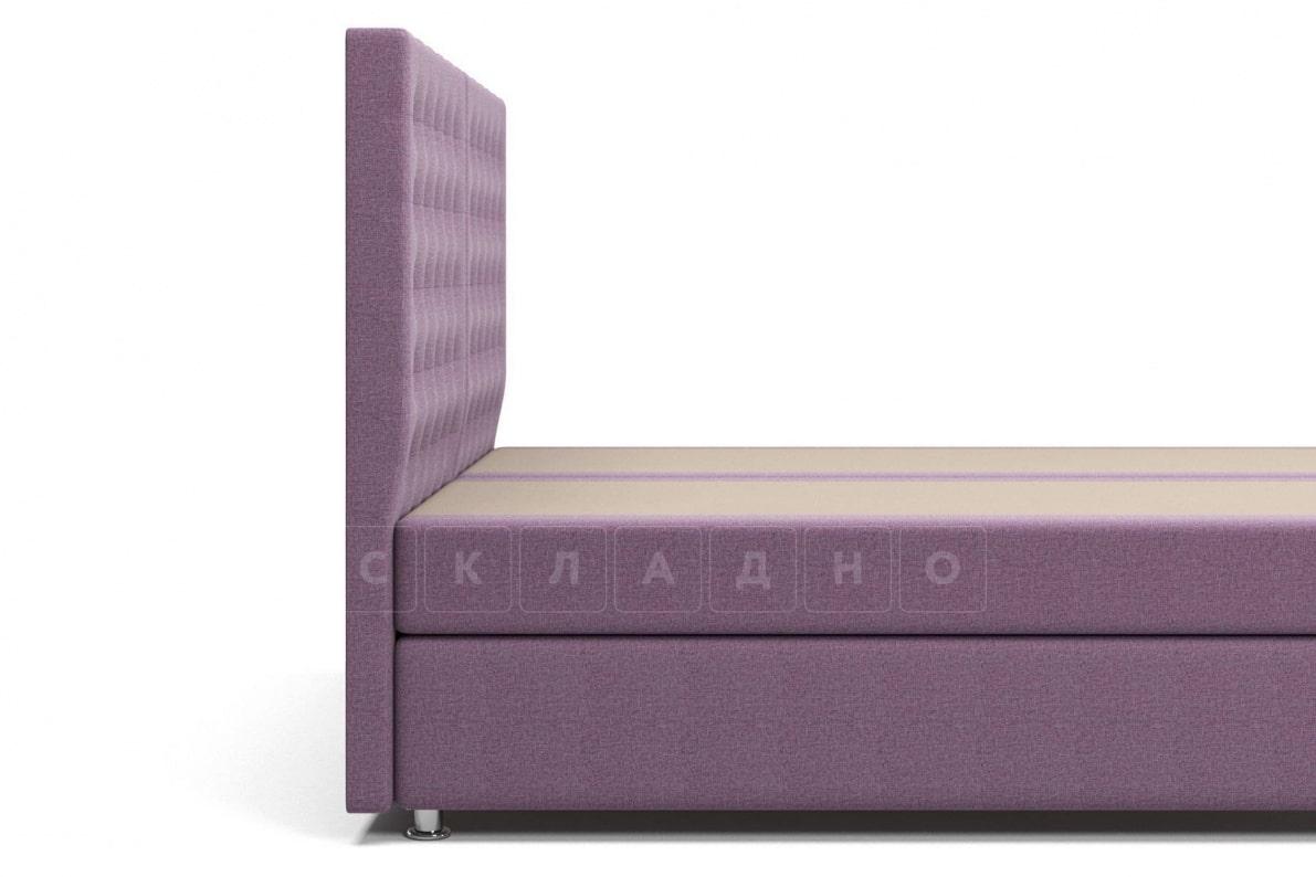 Кровать Парадиз сиреневого цвета два раздельных матраса пружинный блок Боннель фото 5 | интернет-магазин Складно