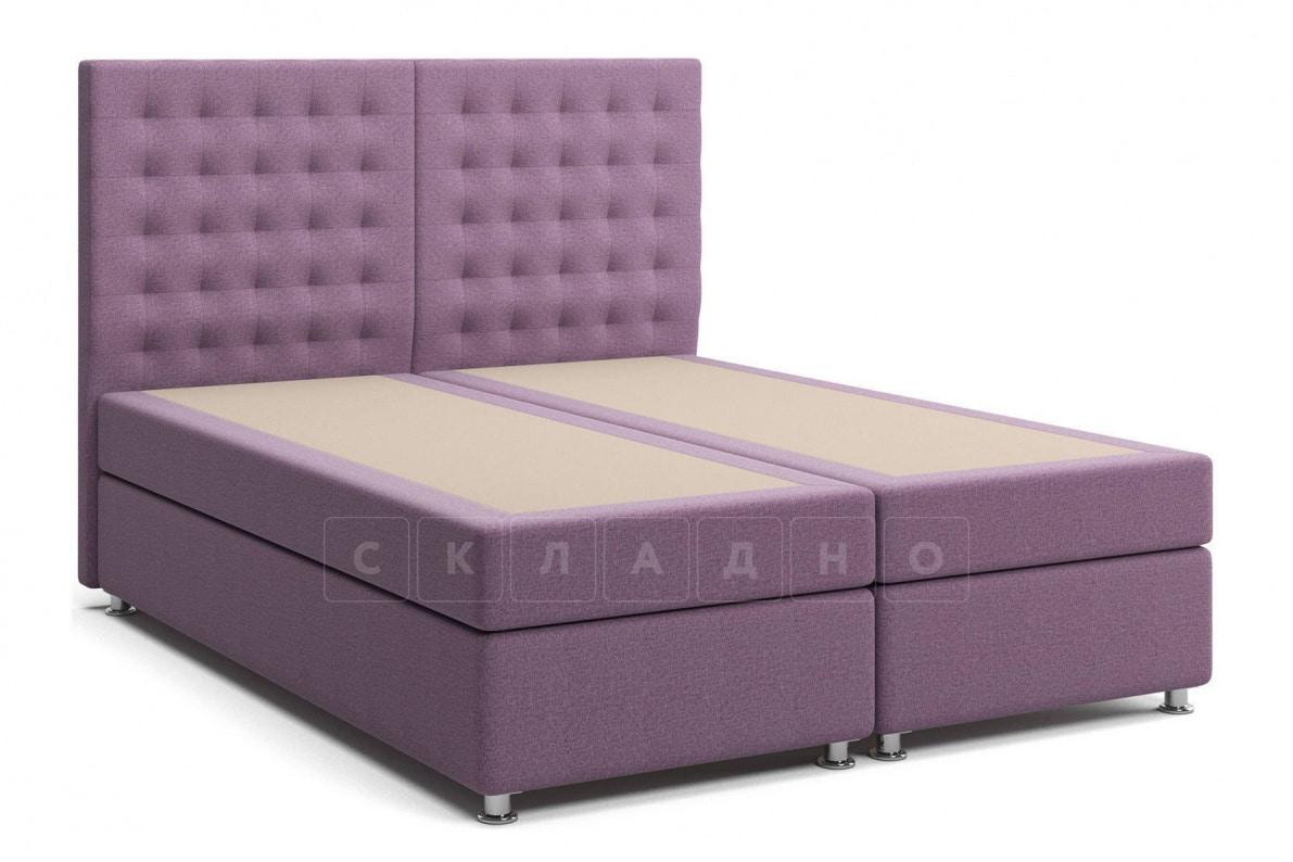 Кровать Парадиз сиреневого цвета два раздельных матраса пружинный блок Боннель фото 3 | интернет-магазин Складно