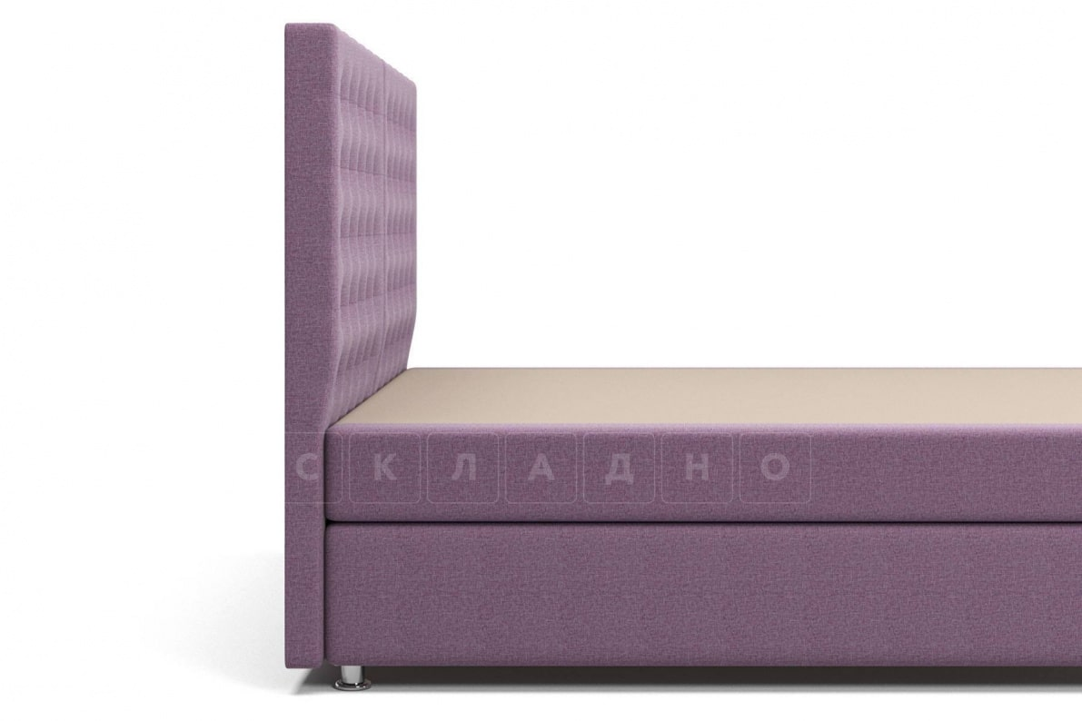 Кровать Парадиз сиреневого цвета единый матрас блок Боннель фото 4 | интернет-магазин Складно