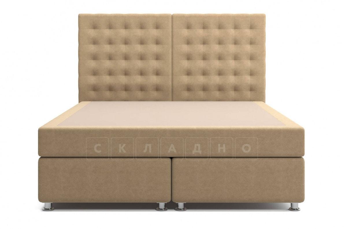 Кровать Парадиз темно-бежевого цвета единый матрас блок Боннель фото 2 | интернет-магазин Складно