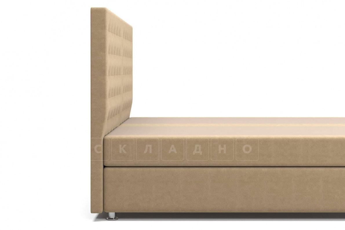 Кровать Парадиз темно-бежевого цвета два раздельных матраса пружинный блок Боннель фото 5 | интернет-магазин Складно