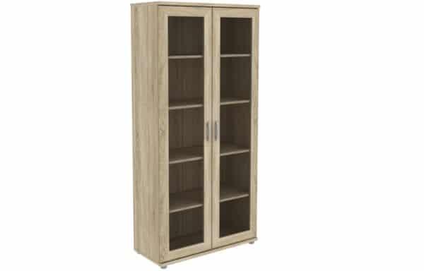 Книжный шкаф 402-02 дуб сонома фото | интернет-магазин Складно