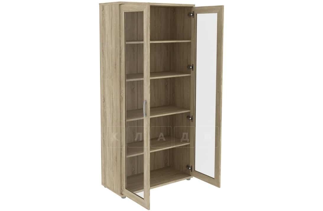 Книжный шкаф 402-02 дуб сонома фото 2 | интернет-магазин Складно