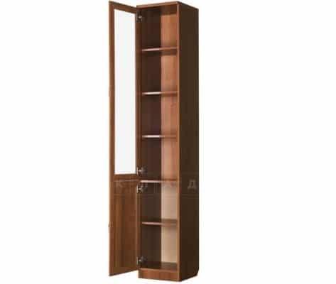 Книжный шкаф узкий 203 венге с молочным дубом фото 2 | интернет-магазин Складно