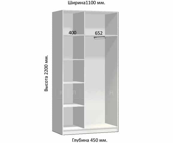 Шкаф-купе Комфорт ширина 110см, модель 1150 фото 1 | интернет-магазин Складно