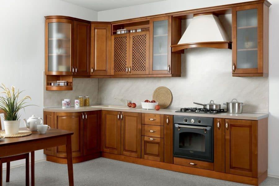 Кухня угловая Массив-Люкс 1335х2500 фото | интернет-магазин Складно