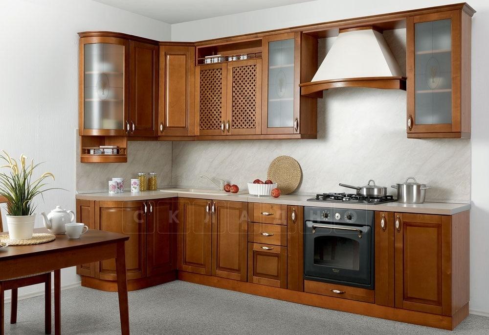 Кухня угловая Массив-Люкс 1335х2500 фото 1 | интернет-магазин Складно