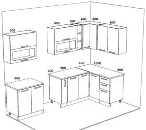 Кухня угловая Массив-Люкс 1400х2400 74910 рублей, фото 6 | интернет-магазин Складно