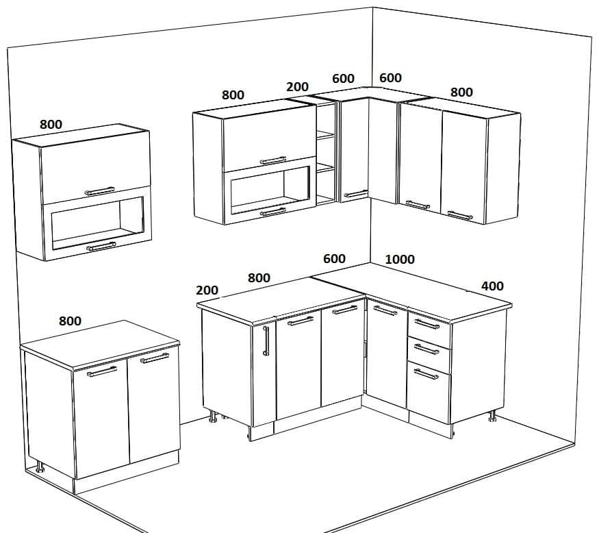 Кухня угловая Массив-Люкс 1400х2400 фото 6 | интернет-магазин Складно