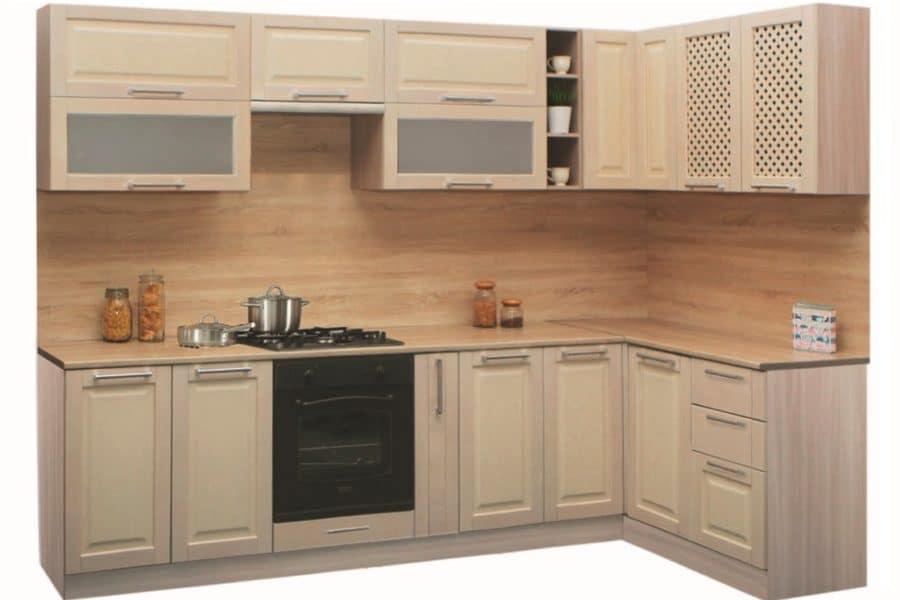 Кухня угловая Массив-Люкс 1400х2400 фото | интернет-магазин Складно
