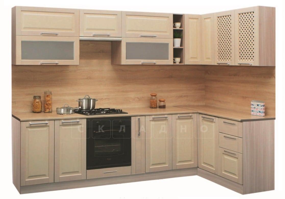 Кухня угловая Массив-Люкс 1400х2400 фото 1 | интернет-магазин Складно