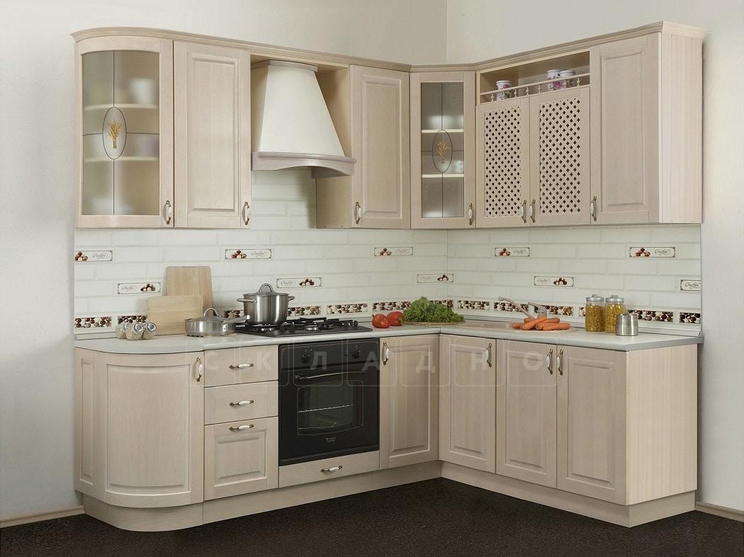 Кухня угловая Массив-Люкс 1735х1800 фото 1 | интернет-магазин Складно