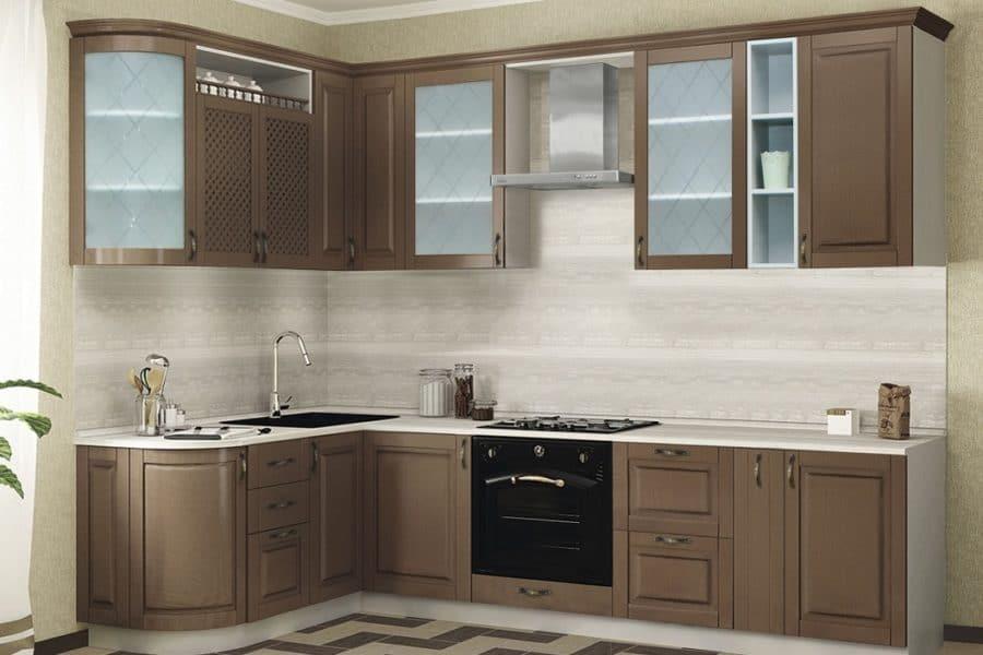 Кухня угловая Массив-Люкс 1735х2200 фото | интернет-магазин Складно